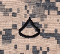 Embroidered ID-R-US, LLC - U.S. Army Sew-On Rank (Enlisted Ranks)